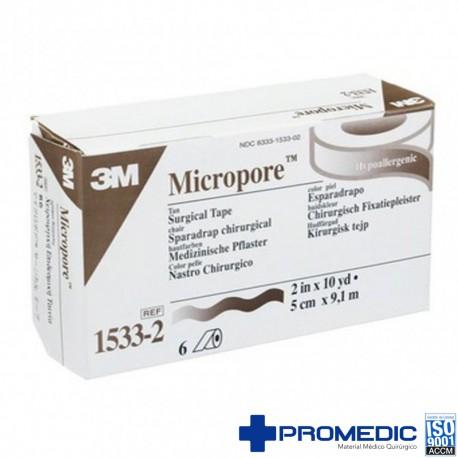 MICROPORE HIPOALERGENICO PIEL 5X10 C/6