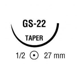 POLYSORB 1 VIO 1/2 27mm C 75cm GS22 C/36