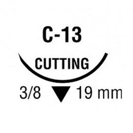 MONOSOF 3/0 NEG 3/8 19mm T 75cm C13 C/36
