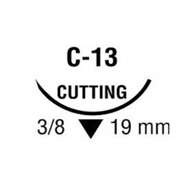CAPROSYN 4/0 INC 3/8 19mm T 75cm C13 C/36