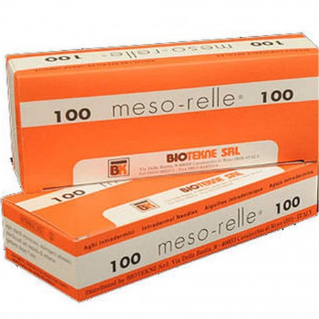 AGUJA MESO-RELLE 27G 0,40x4mm C/100