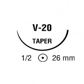 CAPROSYN 2/0 INC 1/2 26mm C 75cm V20 C/36