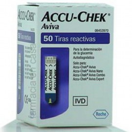 TIRAS REACTIVAS ACCU-CHEK AVIVA C/50