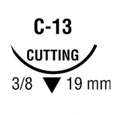 MONOSOF 4/0 NEG 3/8 19mm T 90cm C13 C/36